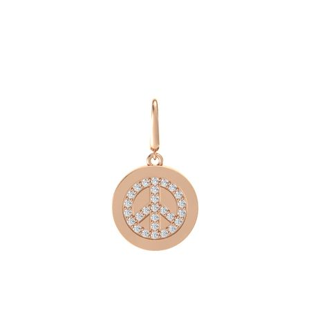 Peace Symbol Gem Disc Charm