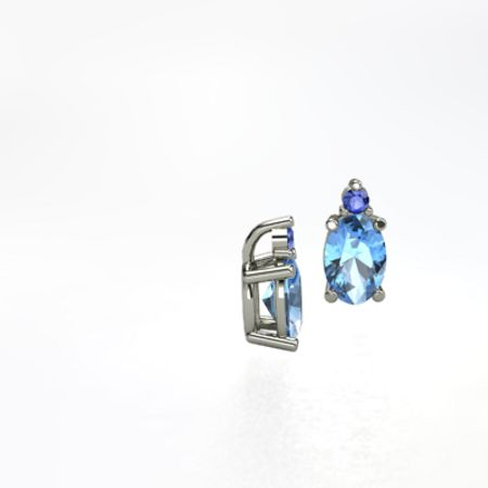 Oval Stud Accent Earrings