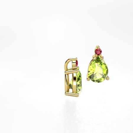 Pear Accent Stud Earrings