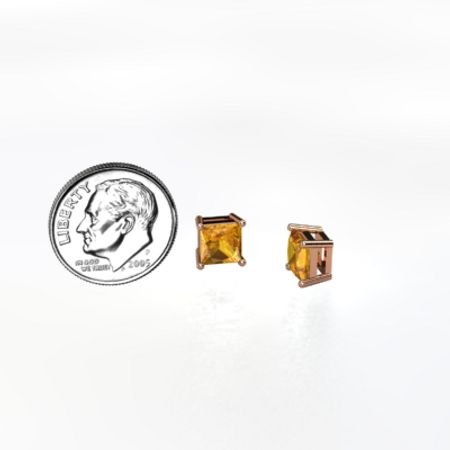 Princess 6mm Stud Earrings
