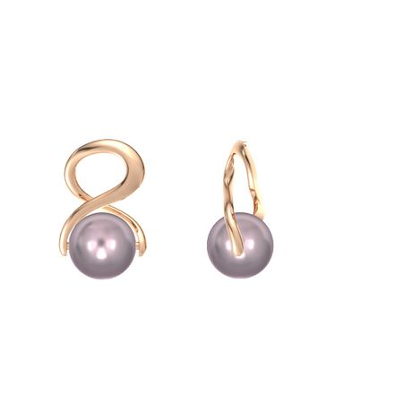 Infinity Pearl Earrings