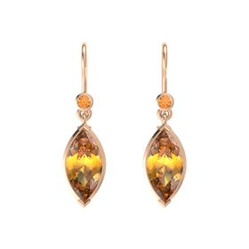 Marquise Citrine 14K Rose Gold Earrings with Citrine