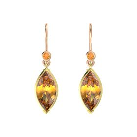 Marquise Citrine 14K Yellow Gold Earring with Citrine