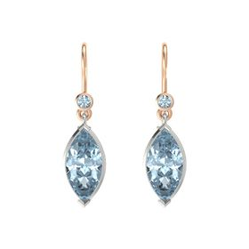 Marquise Aquamarine Platinum Earrings with Aquamarine