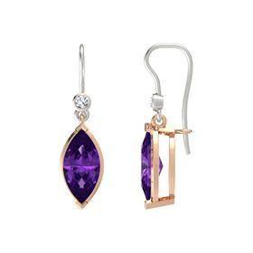 09e8c9710 14K Rose Gold / Amethyst / Diamond. (0) · Marquise Essential Earrings  Marquise Essential Earrings