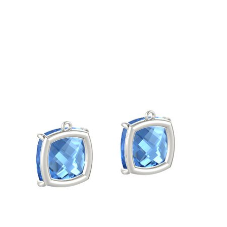 Pure Cushion Medium Earrings