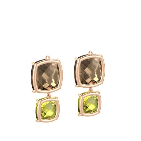 Pure Cushion Double Earrings