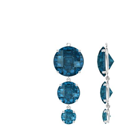 Pure Round Triple Earrings