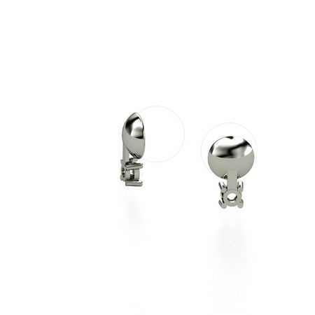 Pearl Studs with Gem Drop