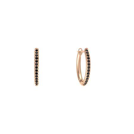 Pave Huggie Hoop Earrings 1mm Gems