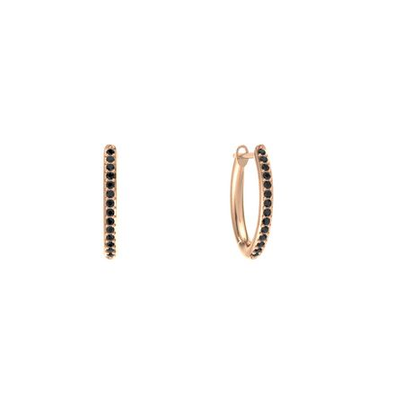 Pave Huggie Hoop Earrings 1mm Gems