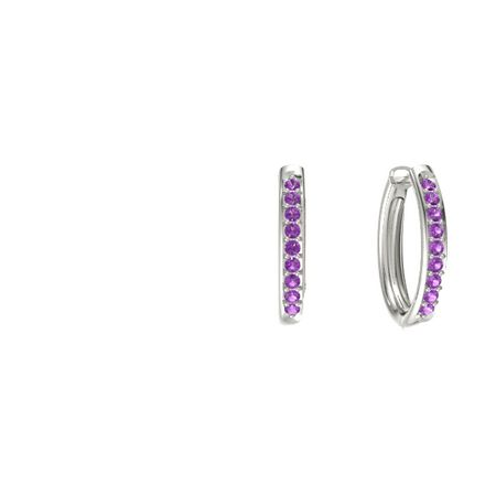 Pave Petite Hoop Earrings (1.5mm gems)