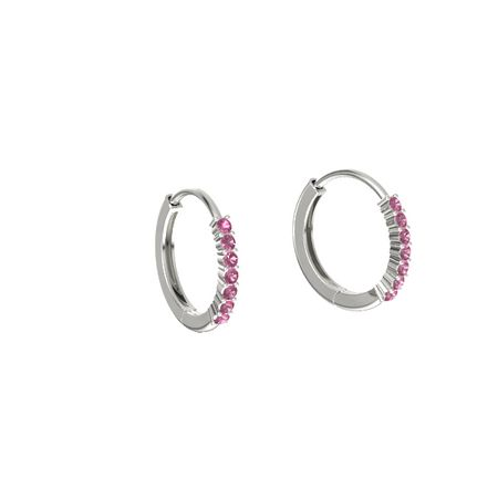 Hoop Earrings (1.5mm gems)