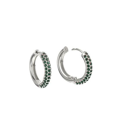 Micropave Hoop Earrings