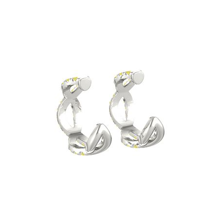 Brilliant Infinity Twist Hoop Earrings