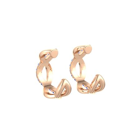 Infinity Twist Hoop Earrings