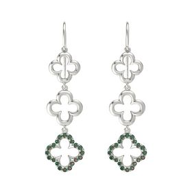 Platinum Earring with Alexandrite