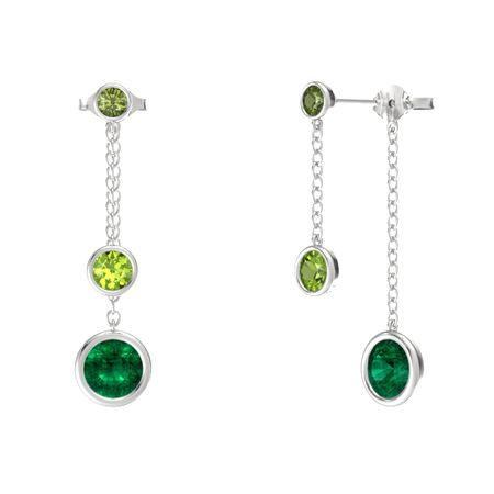 Gemstones By The Yard Front Back Drop Earrings