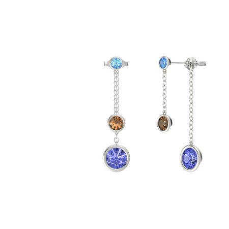 Gemstones By The Yard Front-Back Drop Earrings