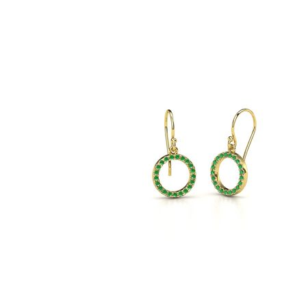 Petite Pave Circle Earrings