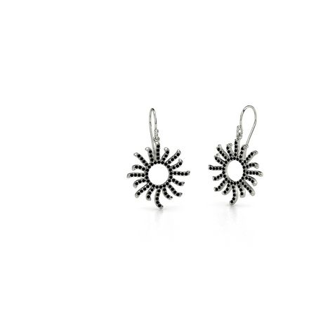 Petite Pave Sunburst Earrings