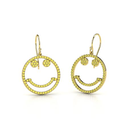 Petite Pave Smiley Earrings
