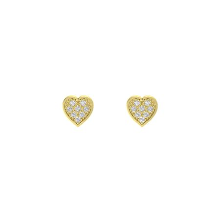 Brilliant Pave Heart Earrings