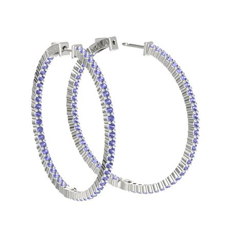 Inside Out Large Hoop Earrings (2mm gems)