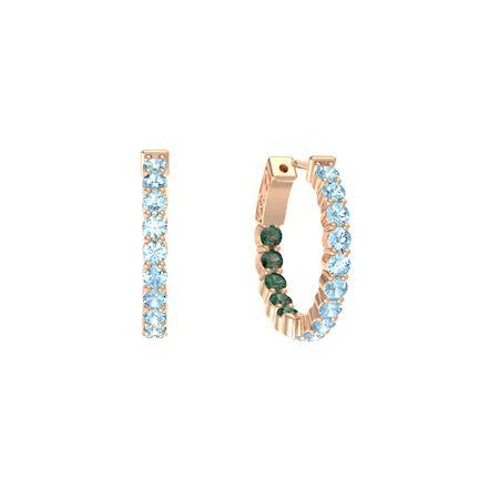 Inside Out Small Hoop Earrings 3mm Gems