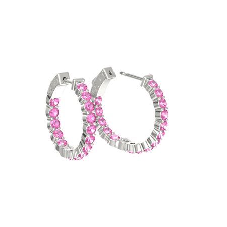 Inside Out Small Hoop Earrings (3mm gems)
