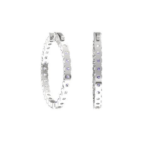 Inside Out Medium Hoop Earrings (3mm gems)
