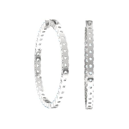 Inside Out Large Hoop Earrings (3mm gems)