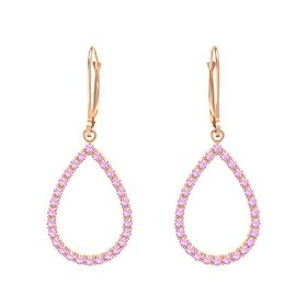 14K Rose Gold Earring with Pink Tourmaline
