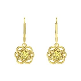 Round Yellow Sapphire 14K Yellow Gold Earrings