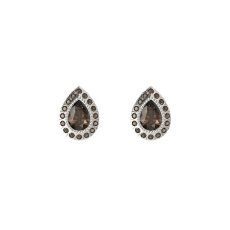 Pear-Cut Halo Earrings