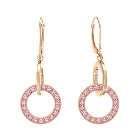 14K Rose Gold Earrings with Pink Tourmaline