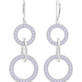 Sterling Silver Earrings with Tanzanite