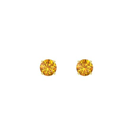 Round-Cut Stud Earrings (6mm gems)