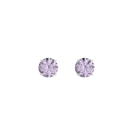 Round-Cut Stud Earrings (7mm Gems)