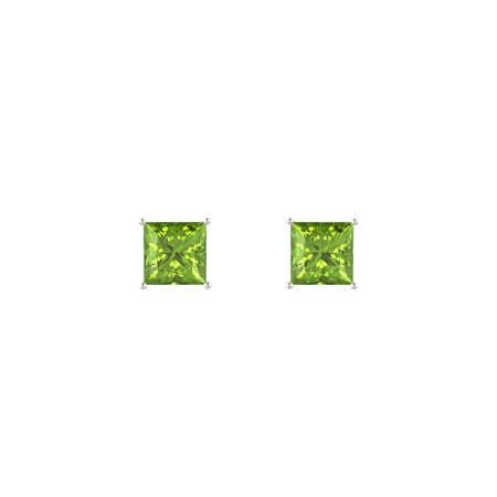 Princess-Cut Stud Earrings (6mm gems)