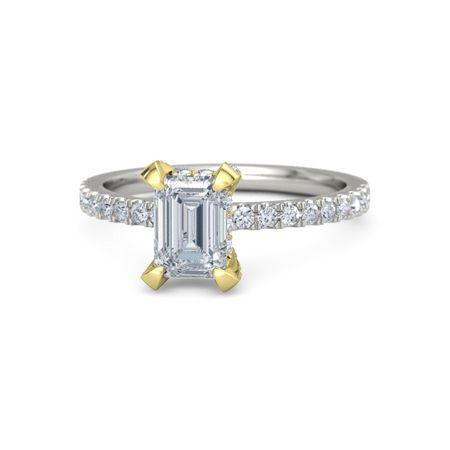 Emerald-Cut Carrie Ring (7mm gem)