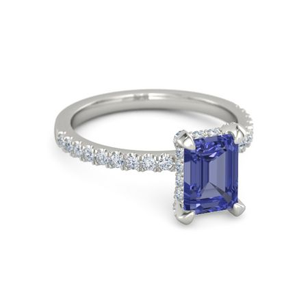 Emerald-Cut Carrie Ring (8mm gem)
