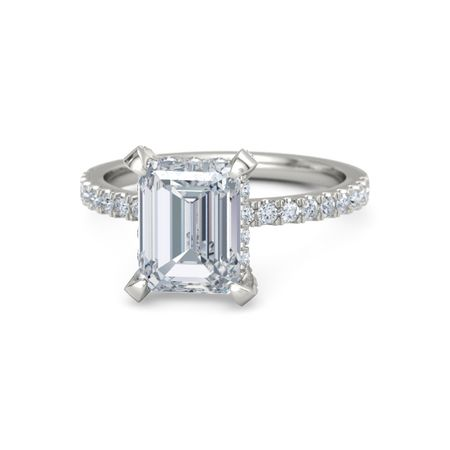 Emerald-Cut Carrie Ring (9mm gem)
