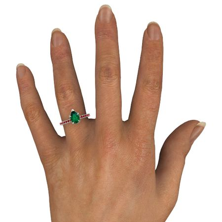 Pear-Cut Candace Ring (9mm gem)