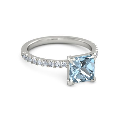 Princess-Cut Candace Ring (7mm gem)