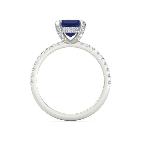 princess sapphire palladium ring with carrie