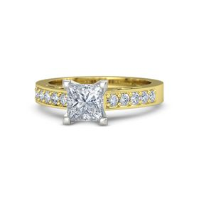 Princess Diamond 18K Yellow Gold Ring with Diamond
