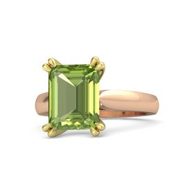 Emerald Peridot 14K Rose Gold Ring