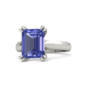 Emerald-Cut Tanzanite 14K White Gold Ring
