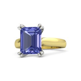 Emerald Tanzanite 14K Yellow Gold Ring